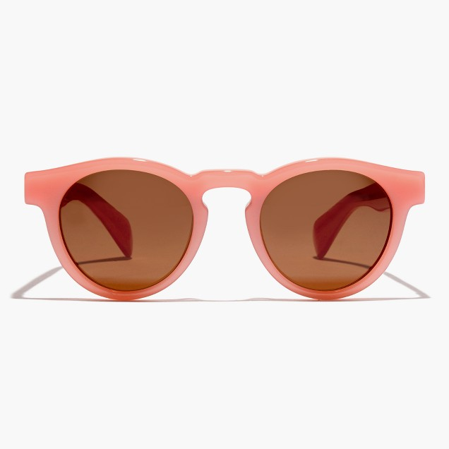 Pink-rimmed sunglasses