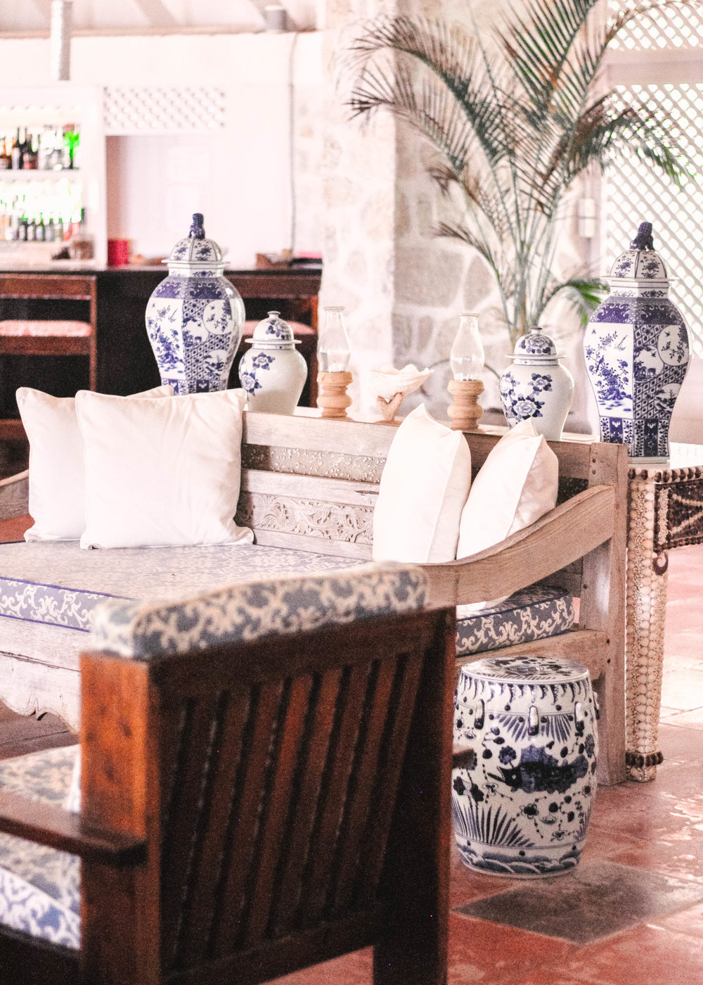 Caribbean hotel decor
