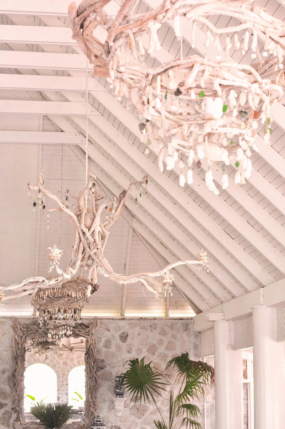 White ceiling decor at Sugar Reef Bequia