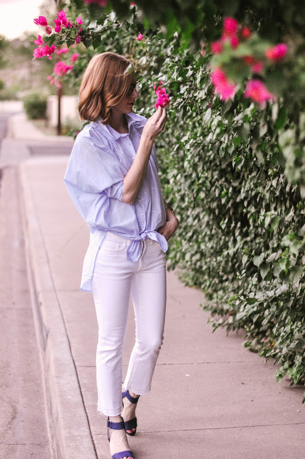White Bootcut Cropped Jeans