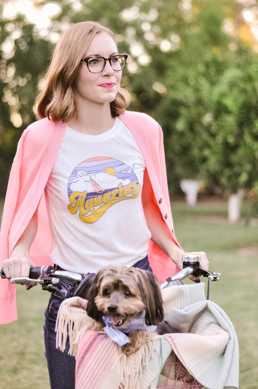 Womens J.Crew Horoscope T-Shirt, Women's J.Crew Harlow Cardigan, Women's J.Crew Boyfriend Jeans