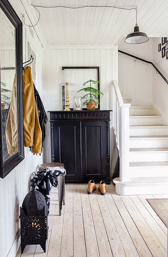 Black and White Scandinavian Farmhouse