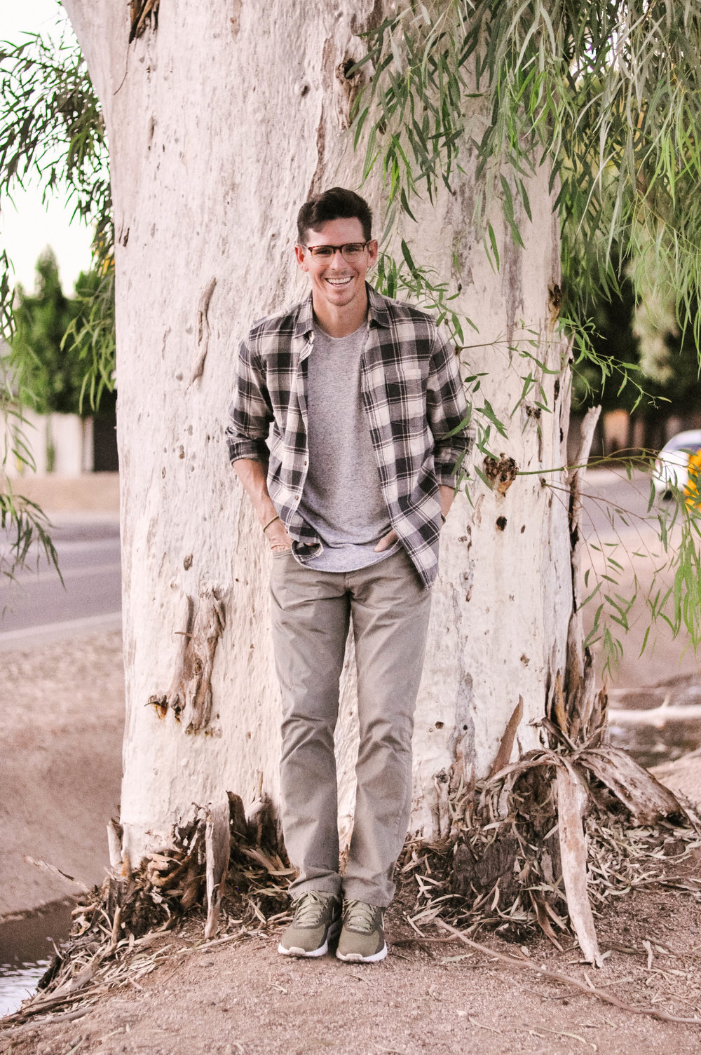 Mens Fall Outfit with Rag & Bone Pants and Urban Outfitters T-Shirt