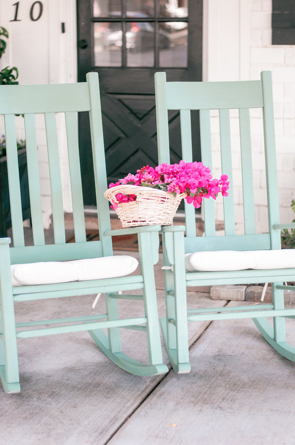 DIY Painted Vintage Rocking Chair Makeover for Porch