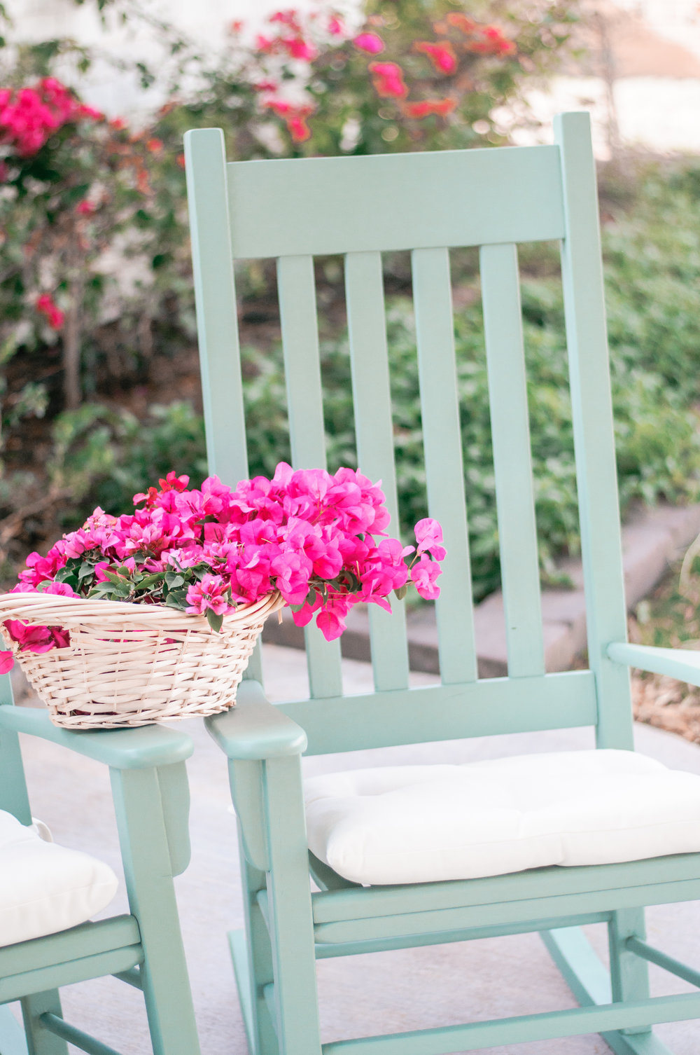 DIY Painted Wood Rocking Chair for Front Porch Outdoor Use