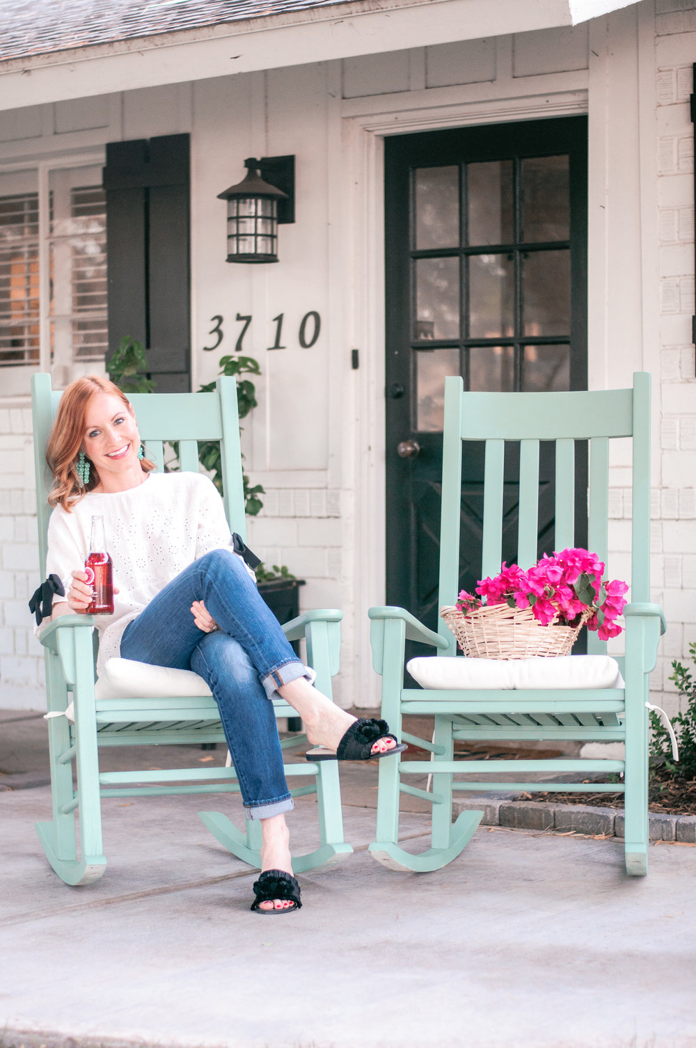 DIY Front Porch Wooden Rocking Chair Makeover