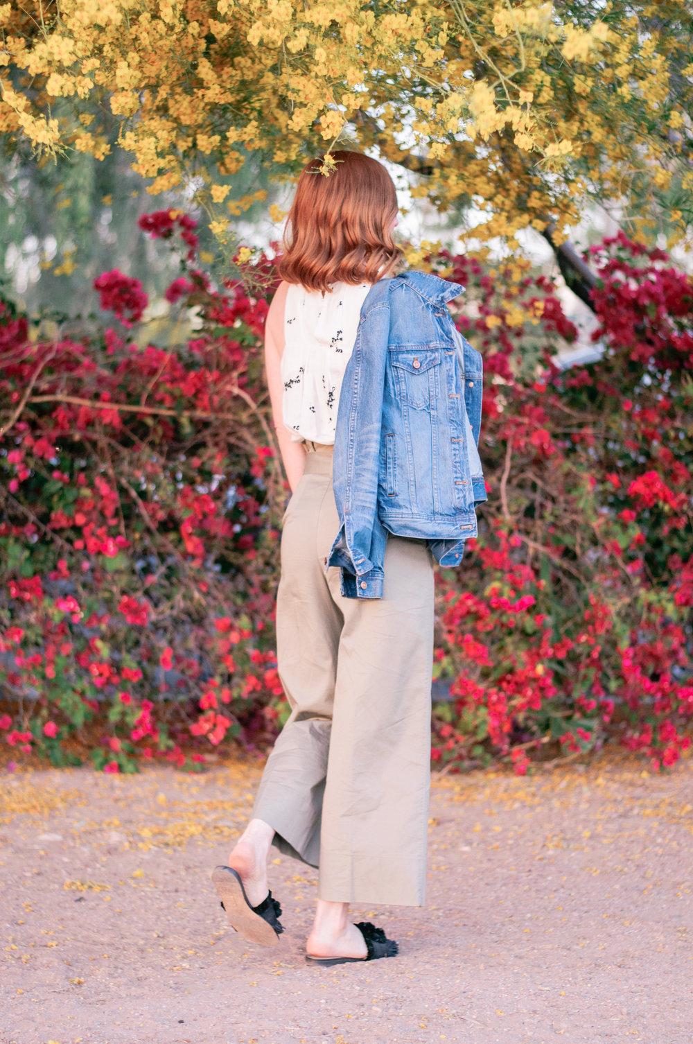 Women's High Waisted Wide Leg Crop Pants