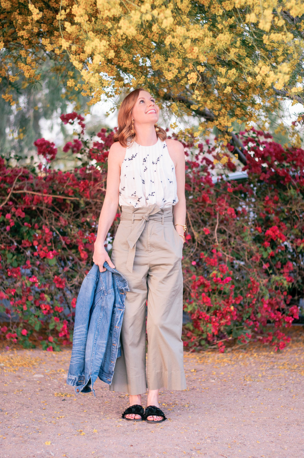 How to Wear High Waisted Wide Leg Cropped Pants