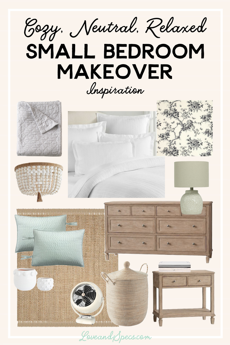 Cozy, Neutral, Relaxed Small Master Bedroom Makeover Ideas ...