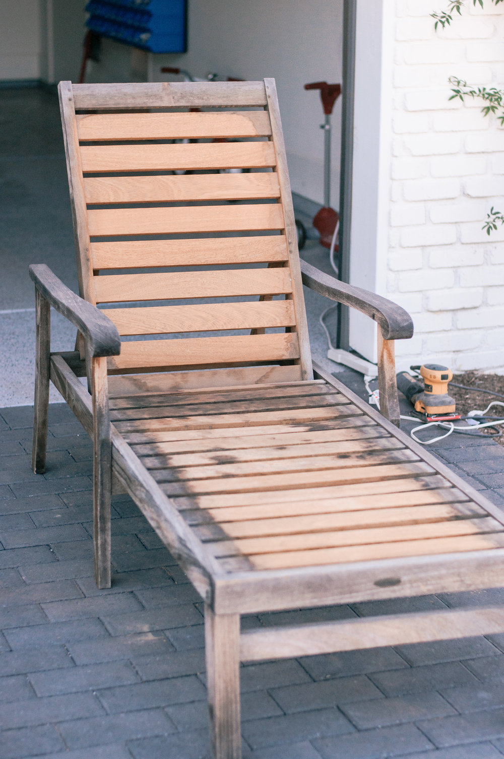Teak Wood Outdoor Furniture Restoration