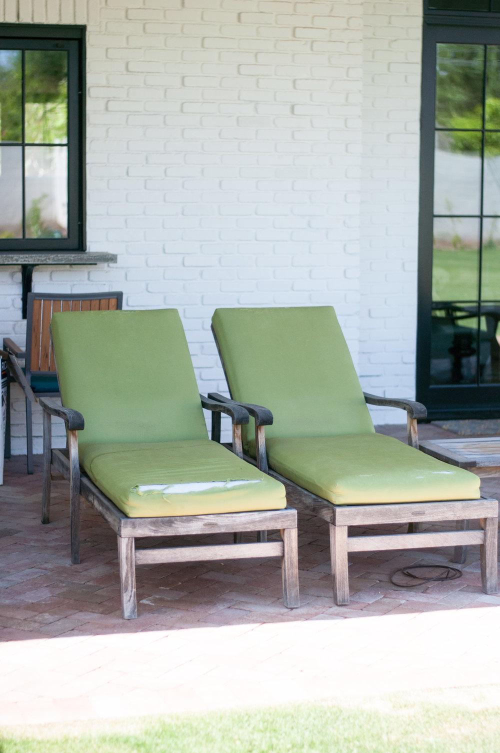 Teak Lounge Chair Makeover