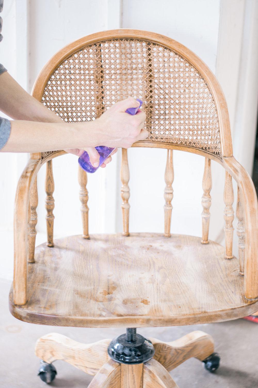 DIY Farmhouse Cane Chair Makeover