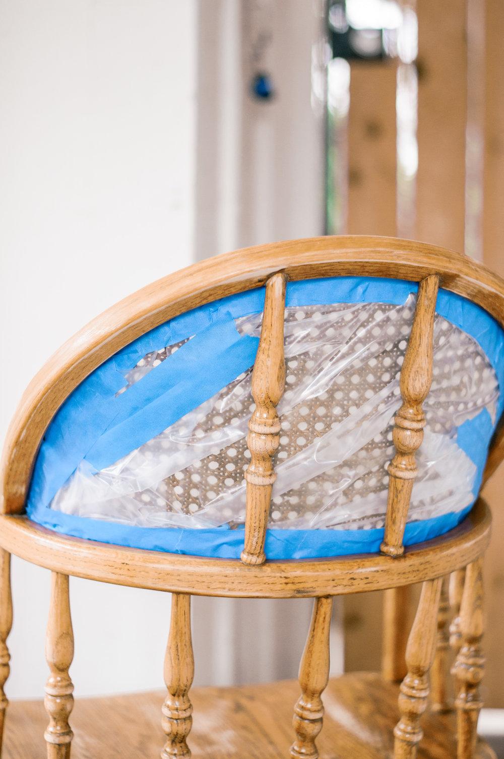 DIY Painted Farmhouse Cane Chair