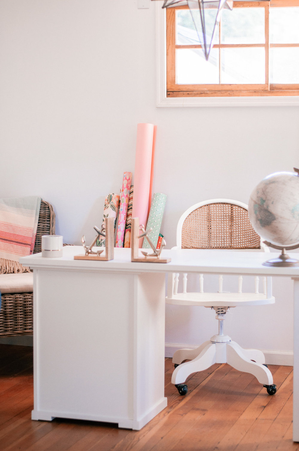 DIY Painted White Farmhouse Cane Chair Makeover