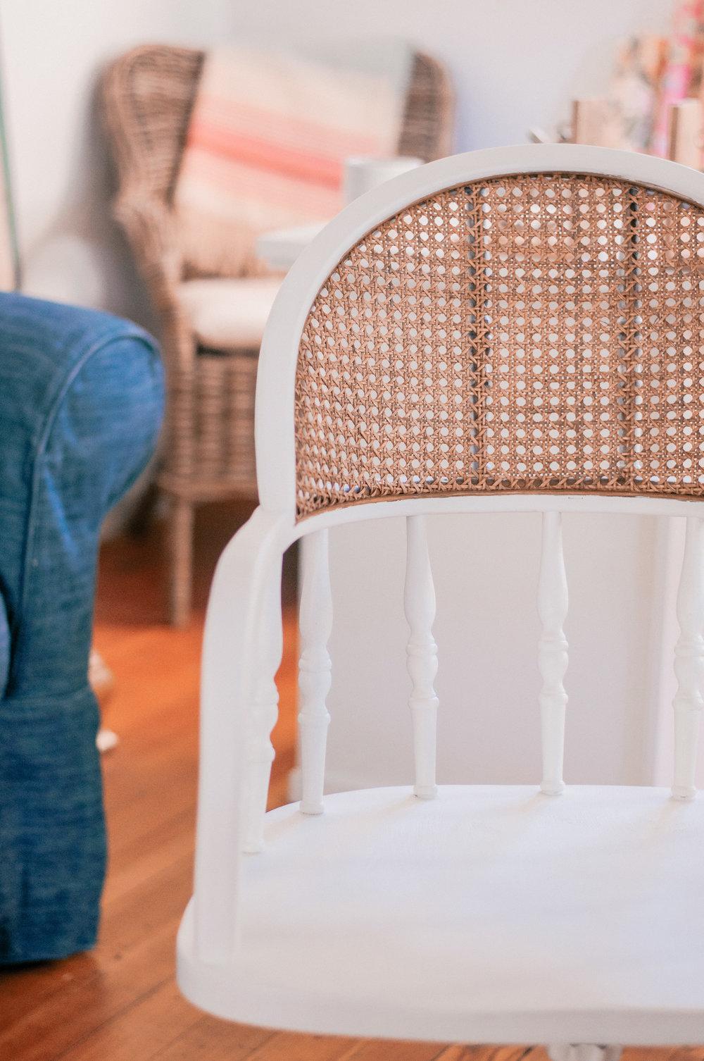 DIY Farmhouse Cane Chair Redo