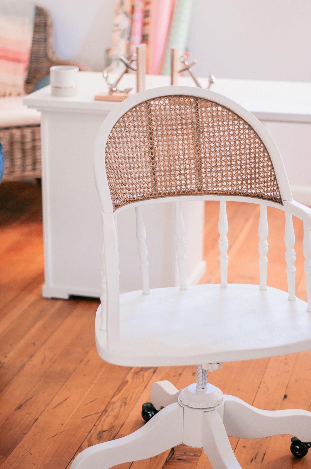 DIY Cane Chair Redo