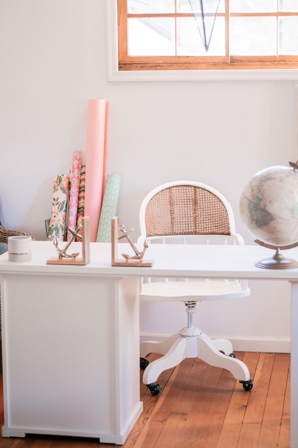 DIY Painted Farmhouse Cane Chair Makeover