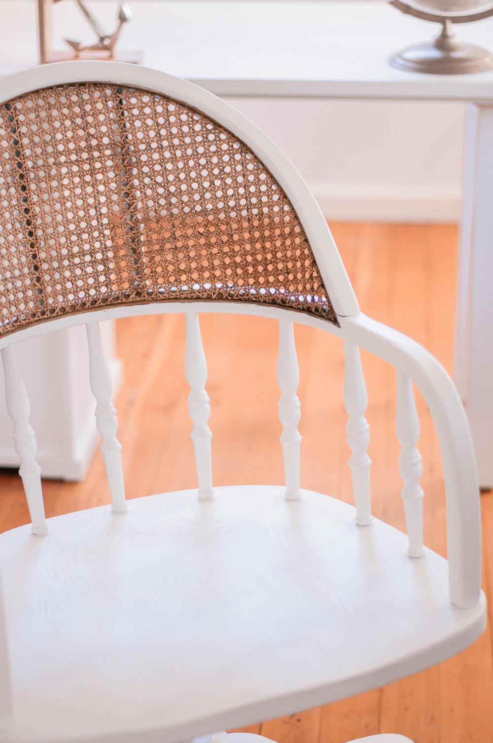 Farmhouse Cane Chair Repair & Redo