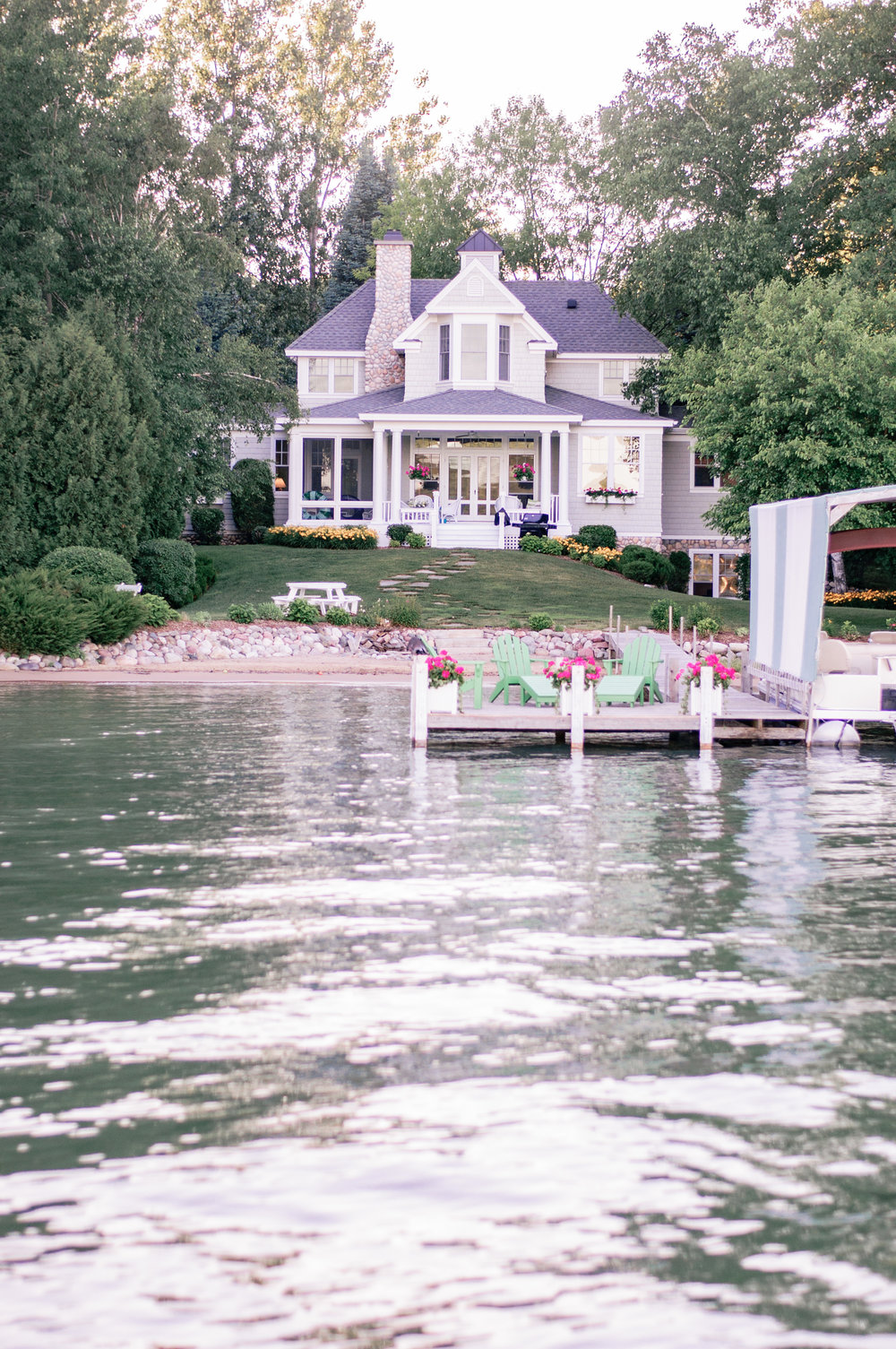 Summer Cottage Exterior on the Lake