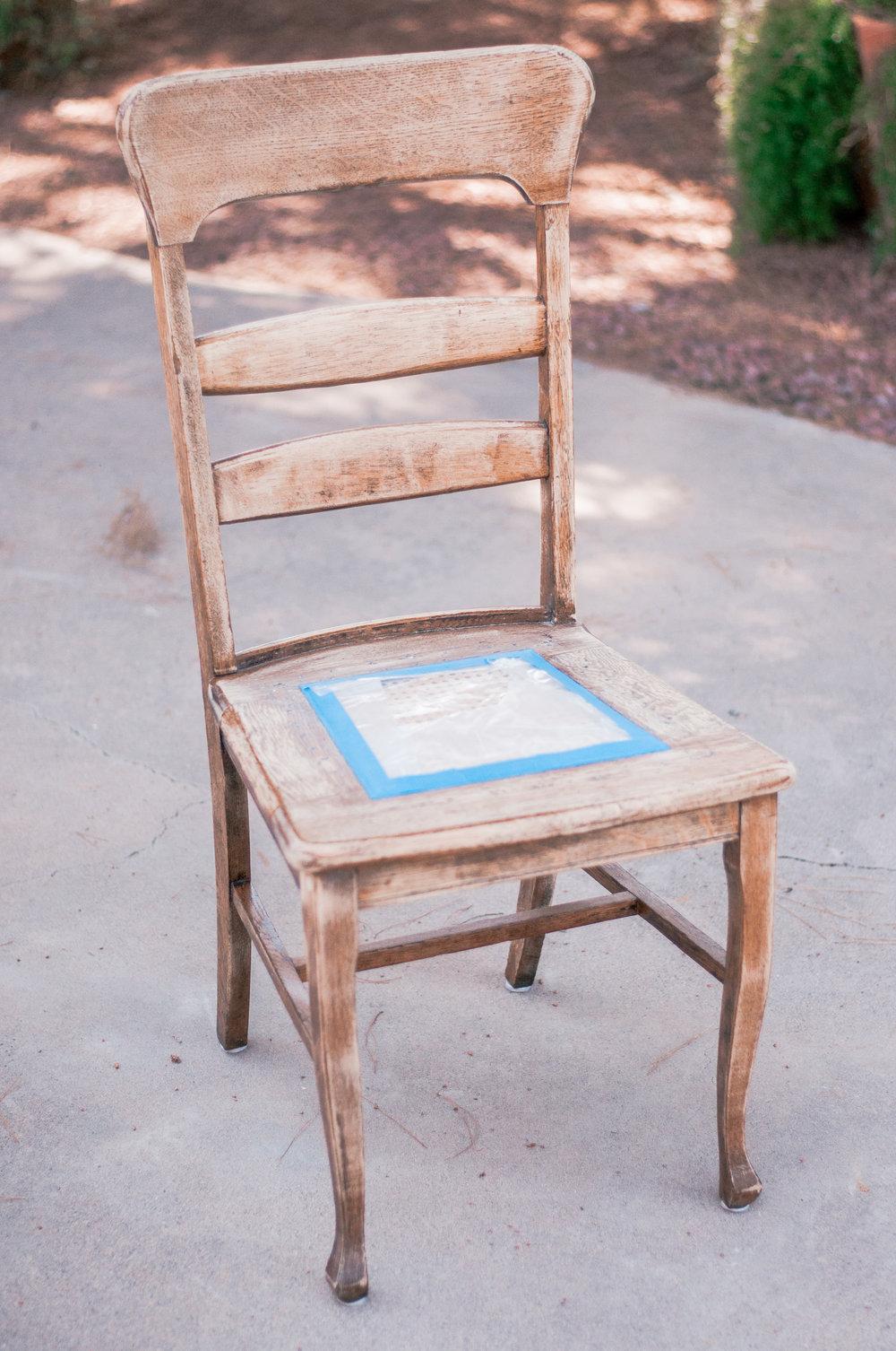 Cheap DIY Wood Farmhouse Chair Makeover