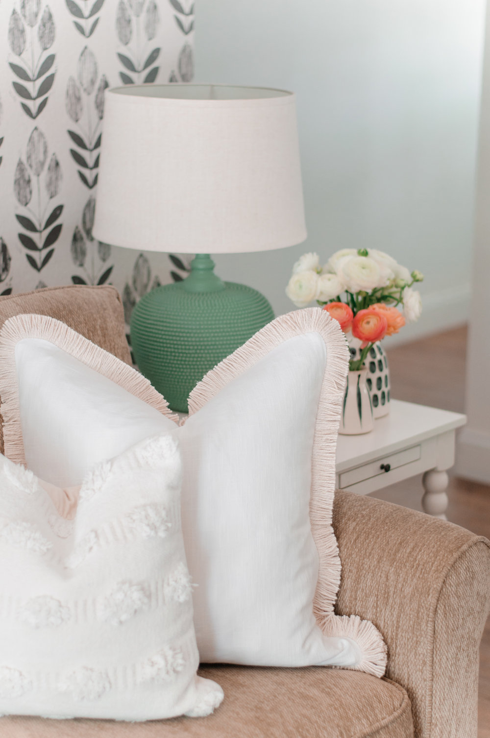 Large White Farmhouse Pillows for Couch