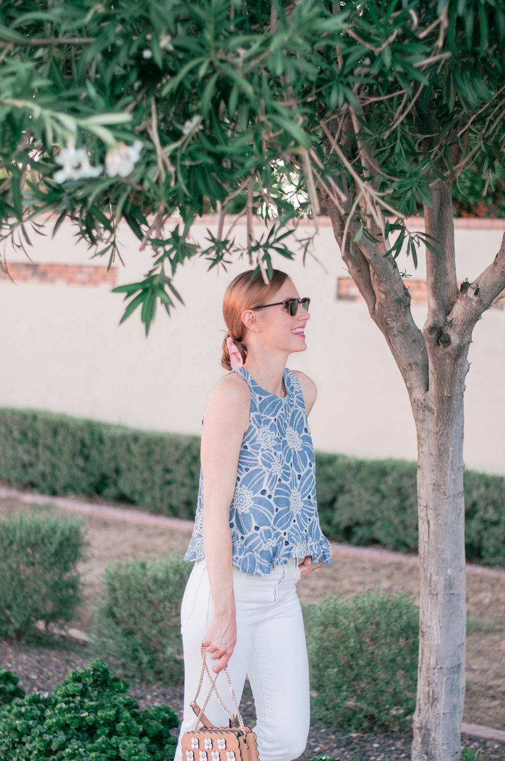 Cute Casual Summer to Fall Transition Outfit for School and Work