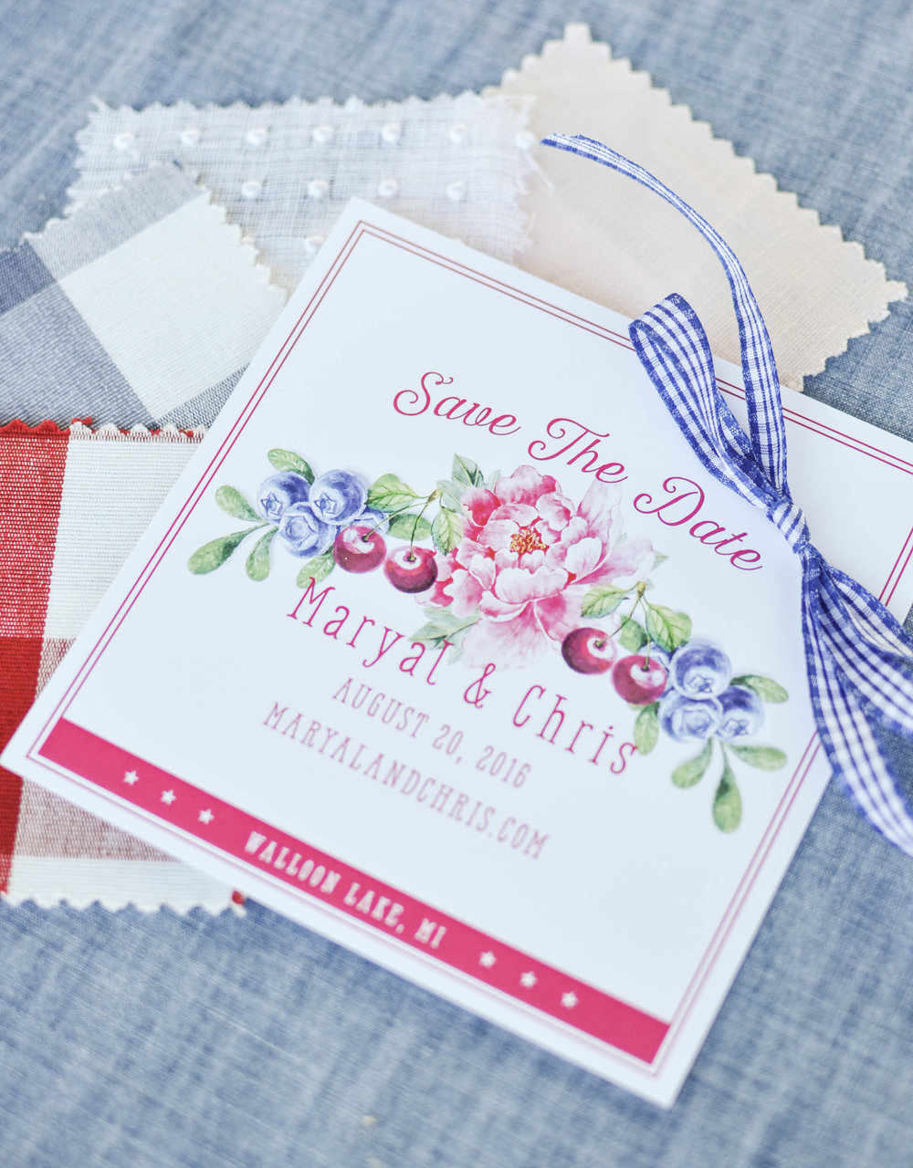 Cute Watercolor Summer Wedding Invitations