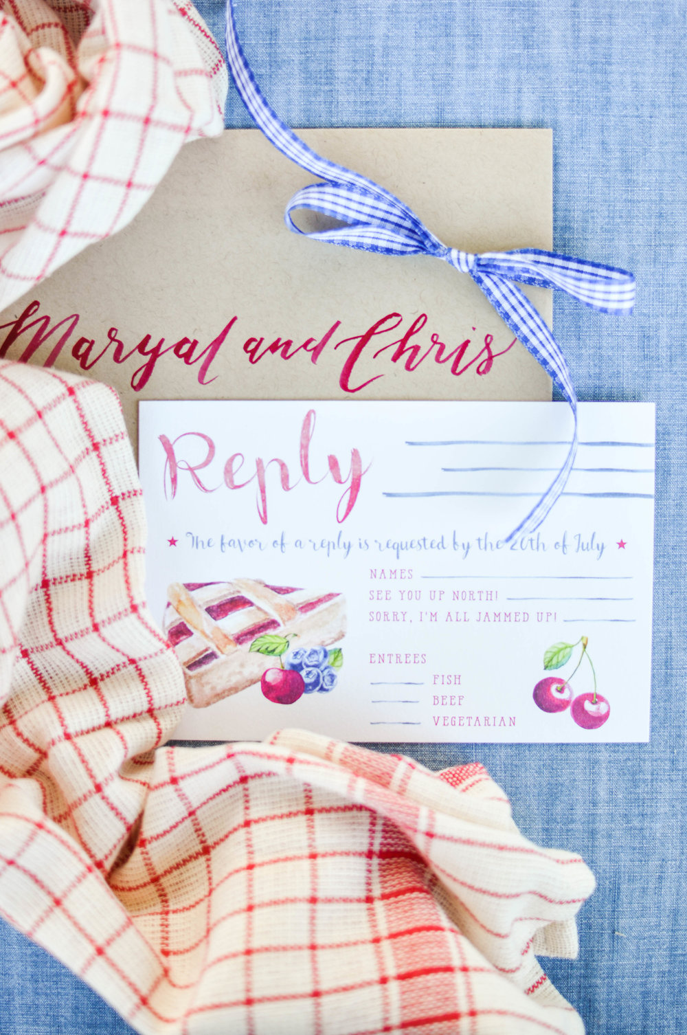 Cute Watercolor Country Summer Wedding Invitation Ideas