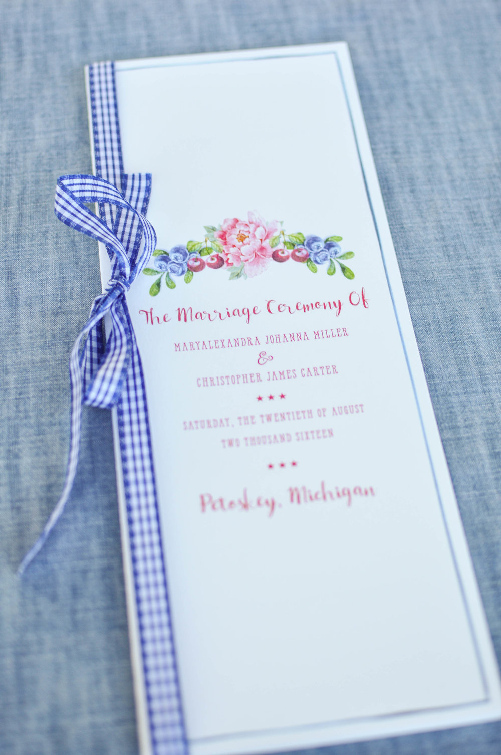 Cute Country Wedding Ceremony Program Ideas