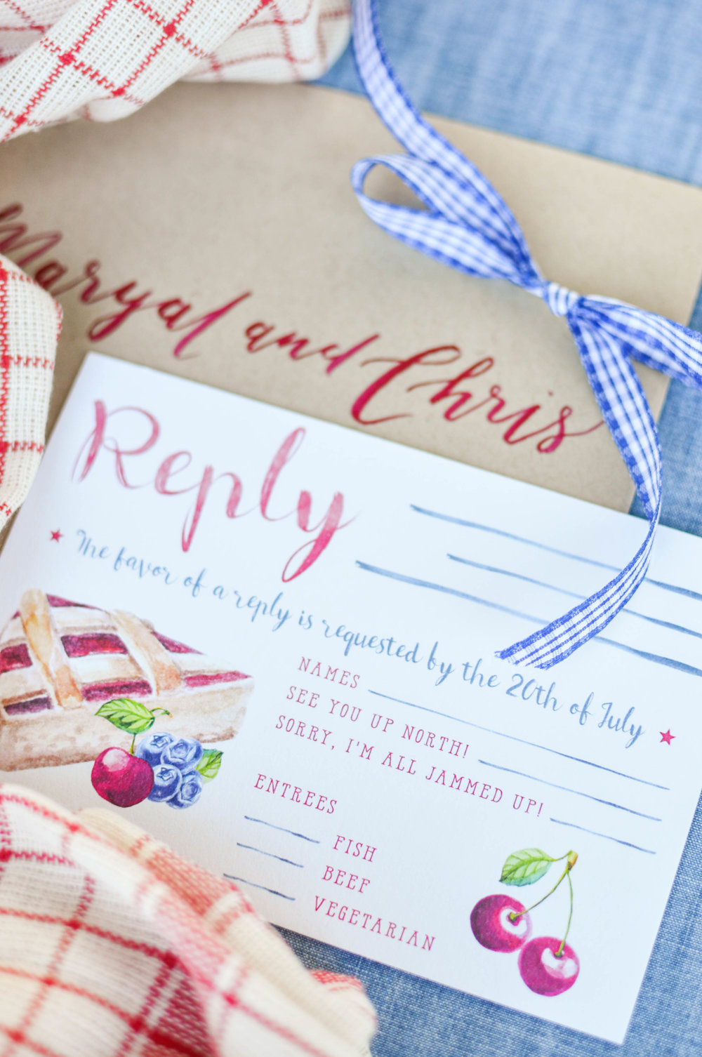 Summer Wedding Reply Card Ideas