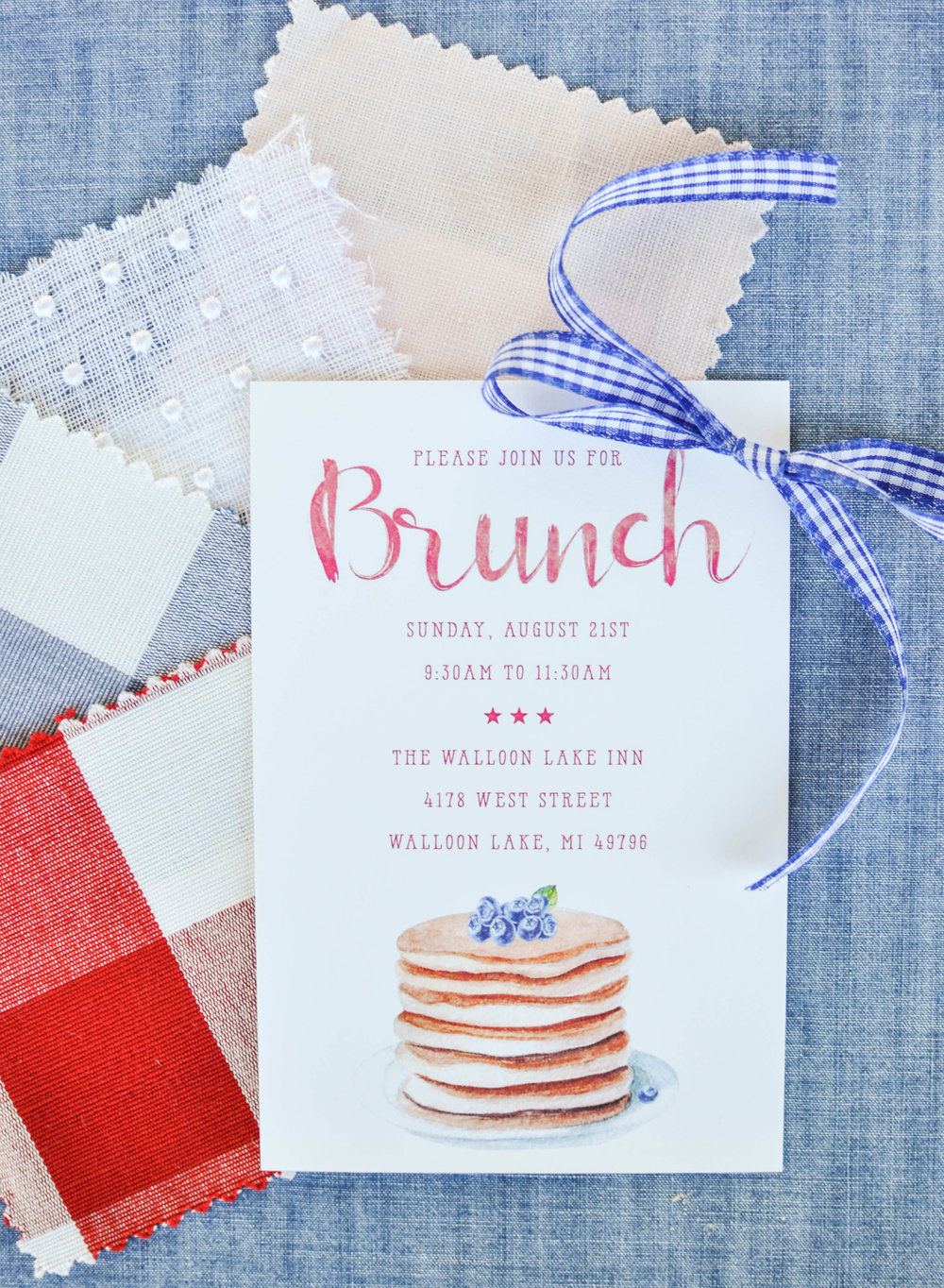 Cute Watercolor Summer Country Wedding Invitation Ideas