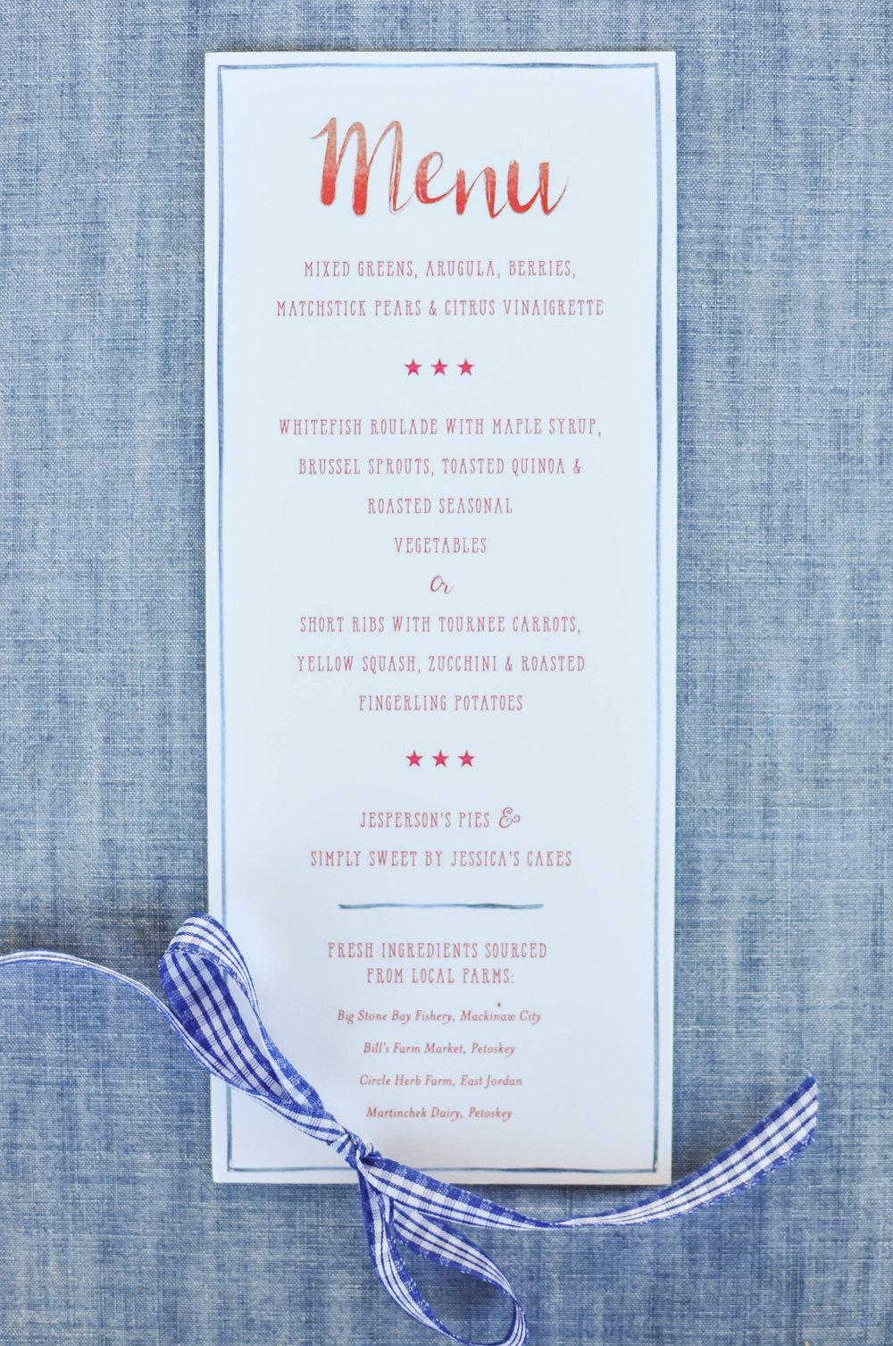 Cute Wedding Menu Ideas