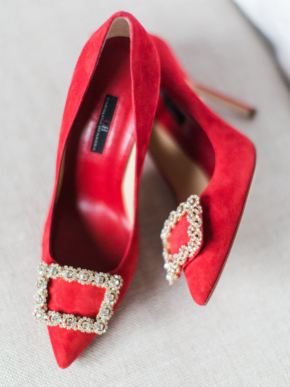 The Perfect Red Wedding Shoes by Carolina Herrera
