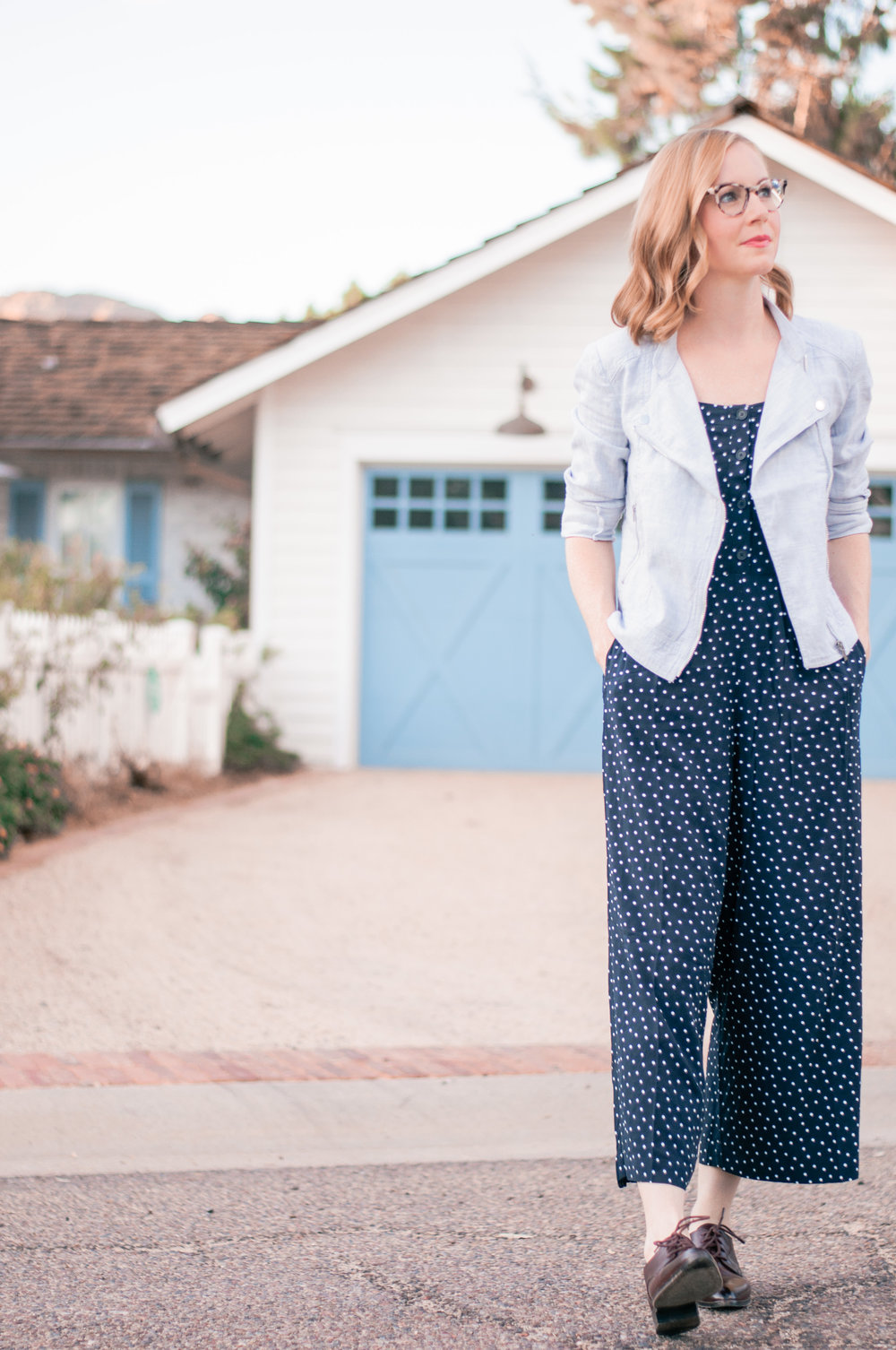 Casual Blue Jumpsuit for Fall