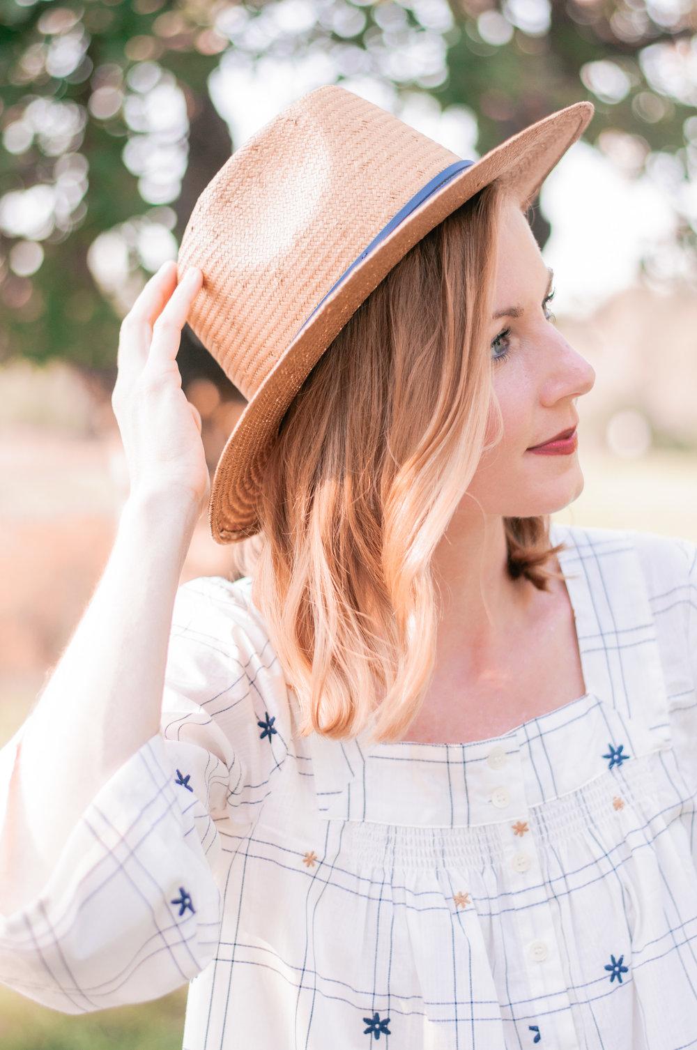 Brixton Straw Wide Brimmed Fedora Hat for Women