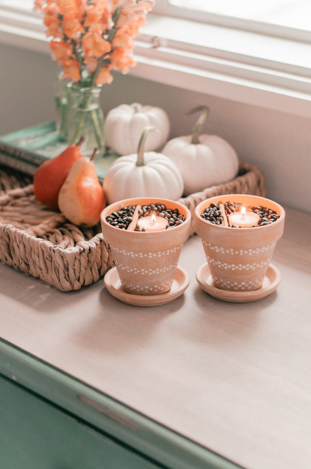 Easy cute DIY painted terracotta pots