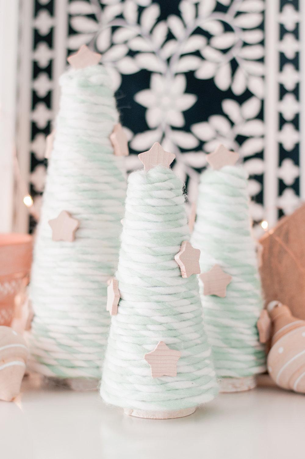 Cute Yarn Trees