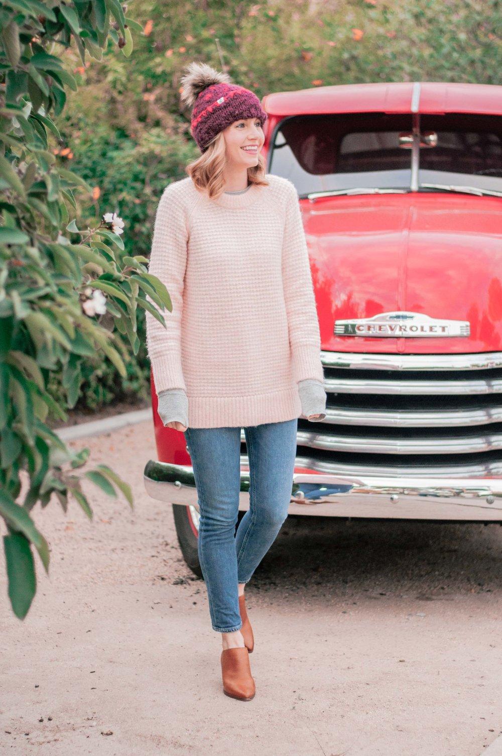 Cute Cozy Pink Women's Sweaters