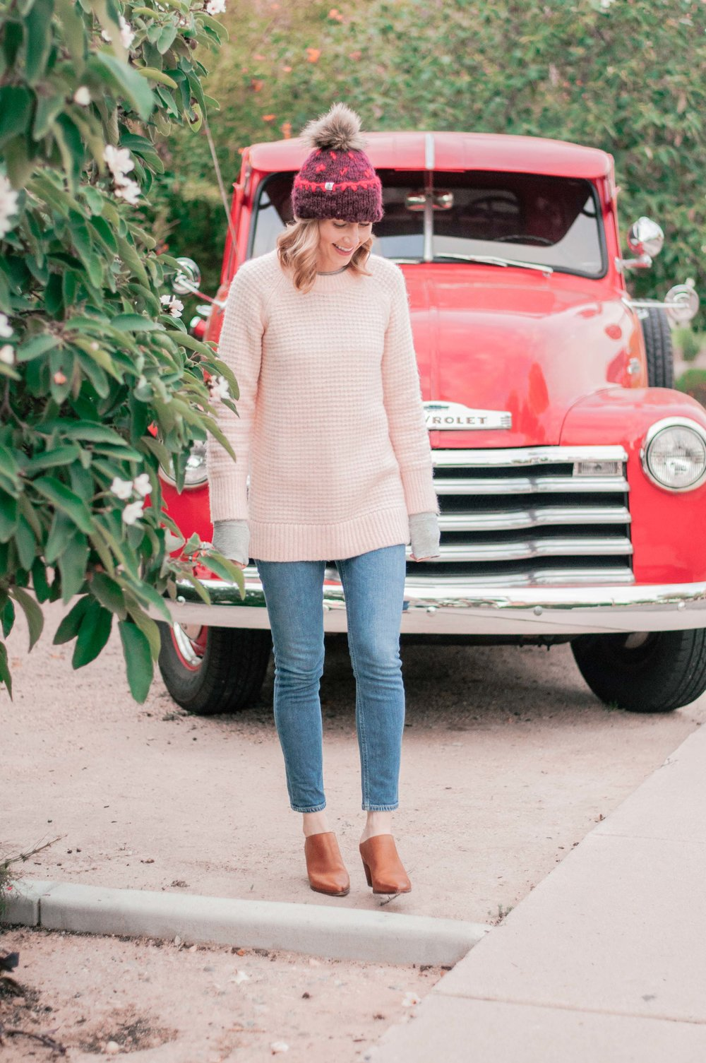 Cute Pink Loft Knit Sweaters for Women