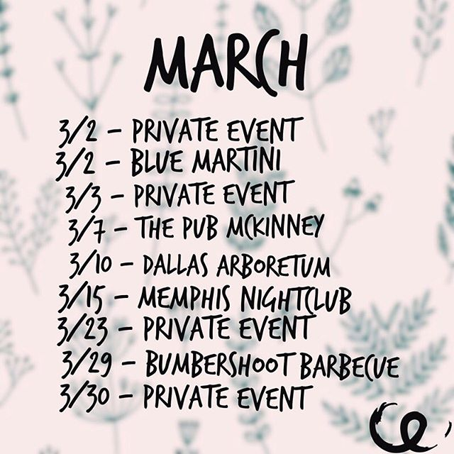 March dates are up! (Better late than never, right?!) 🤪 would LOVE to see some friendly faces at these shows this month 🖤