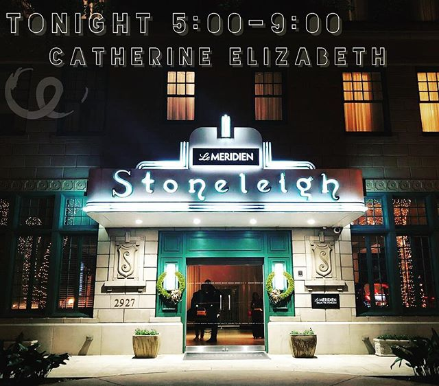 I picked up a last minute show tonight at The Stoneleigh in Dallas! Come out and see me from 5:00-9:00!!