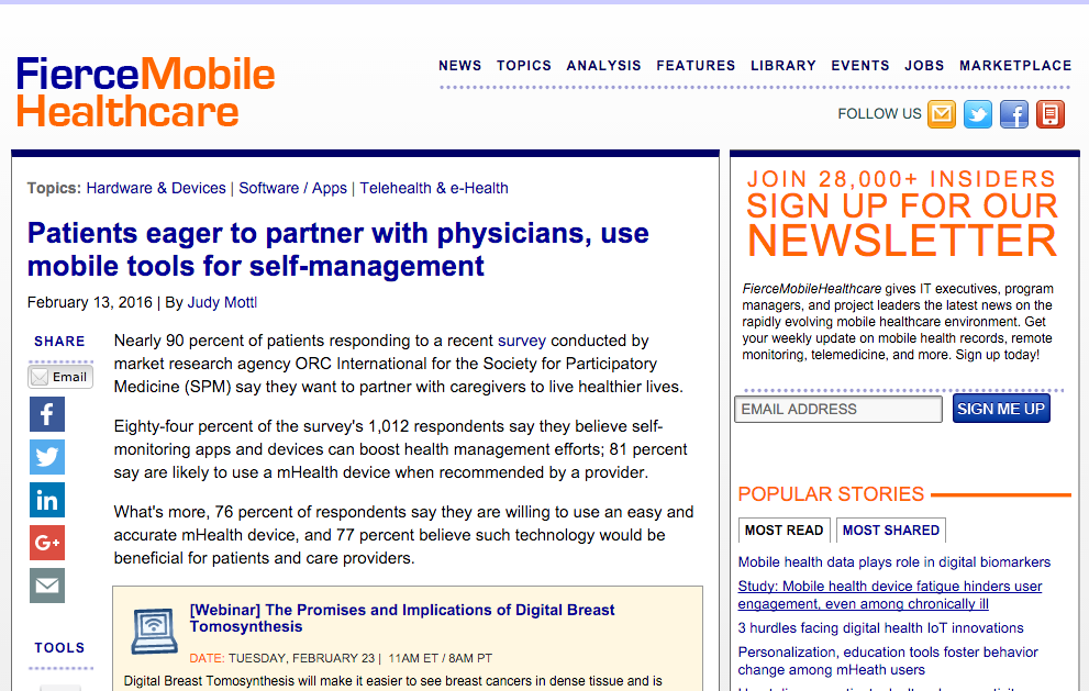 Patients Eager to Use mHealth with Health Practitioners Fierce Mobile Healthcare