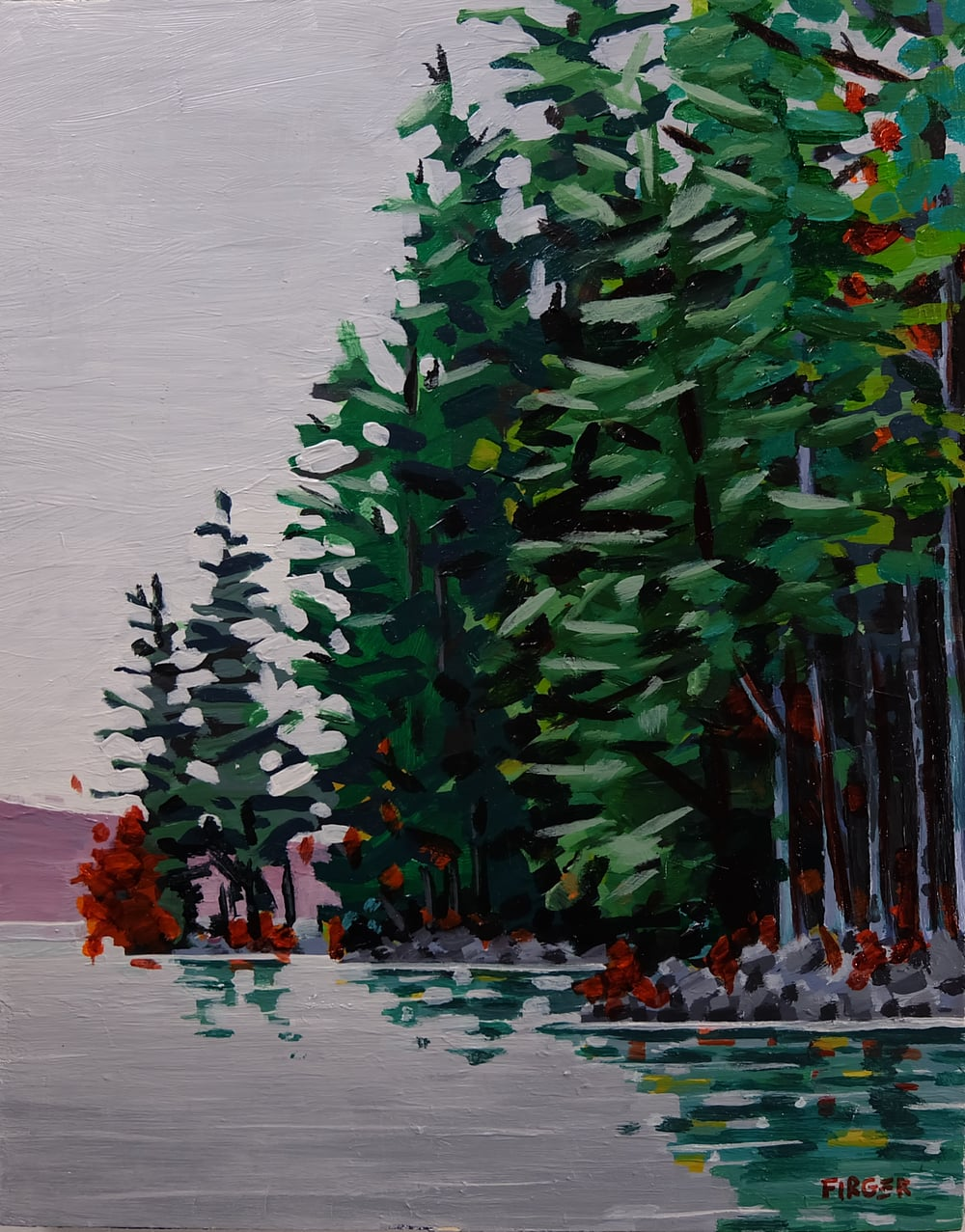 On Location - 8 x 10, Acrylic on Panel (SOLD)