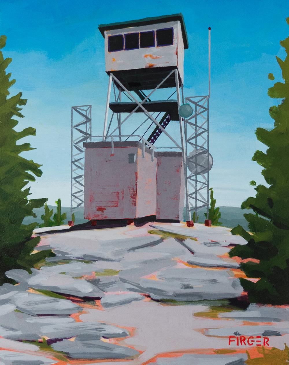 Weathertop - 8 x 10, Acrylic on Panel (SOLD)