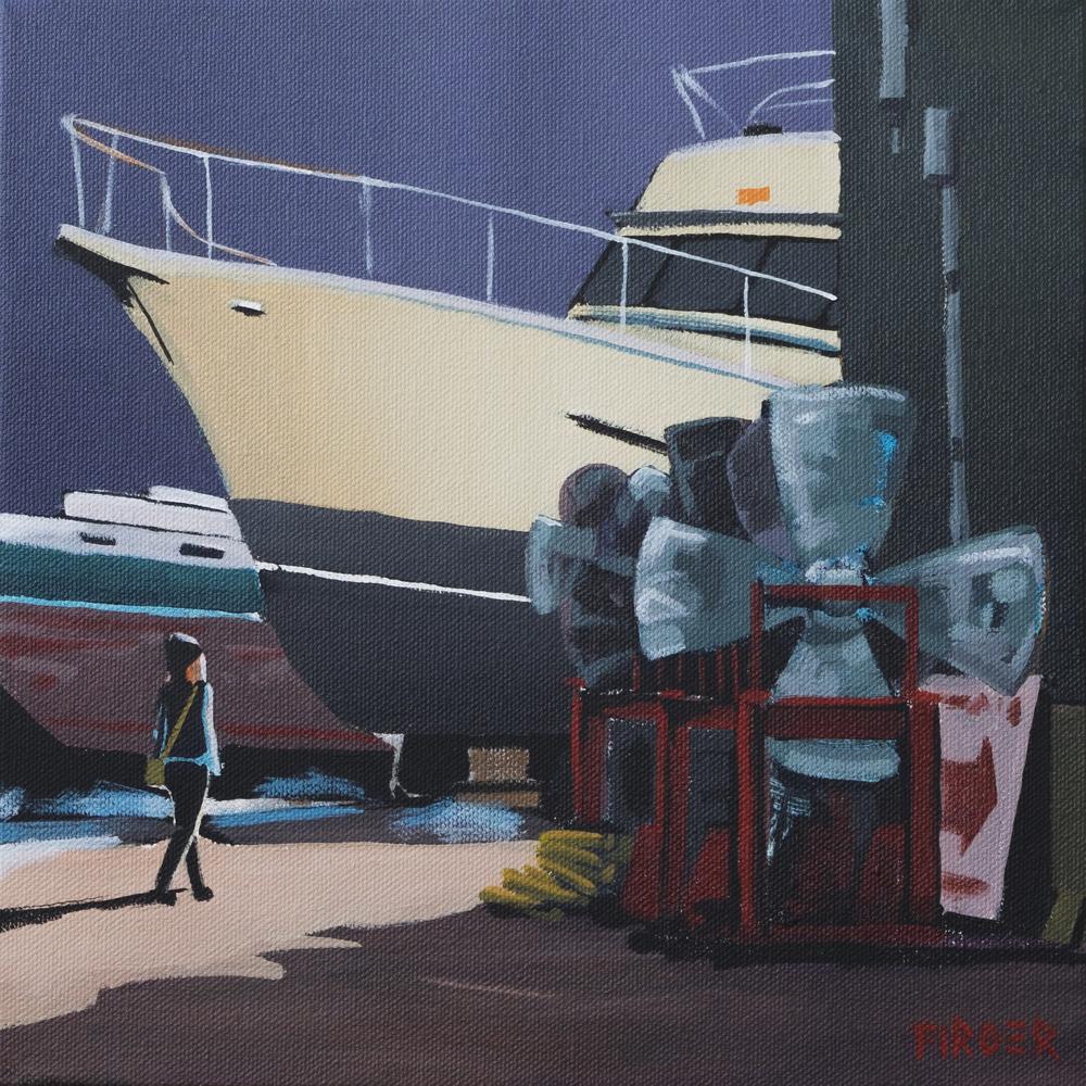 Sleeping Giants - 10 x 10, Acrylic on Canvas (SOLD)