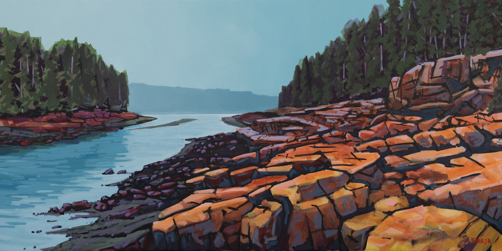 Ship Harbor Trail - 20 x 40, Acrylic on Canvas (SOLD)