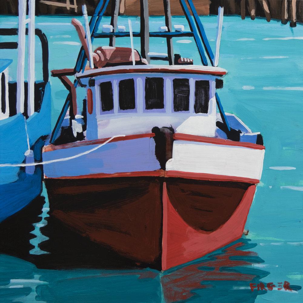 Sabrina Maria - 8 x 8, Acrylic on Panel (SOLD)
