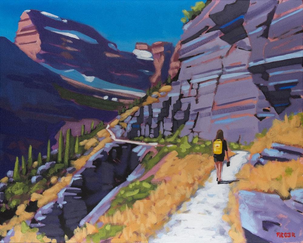 Glacier Approach - 16 x 20, Acrylic on Canvas (SOLD)