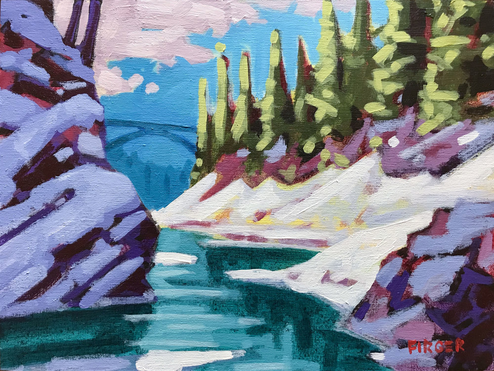 Quechee Gorge Thaw - 9 x 12, Acrylic on Panel