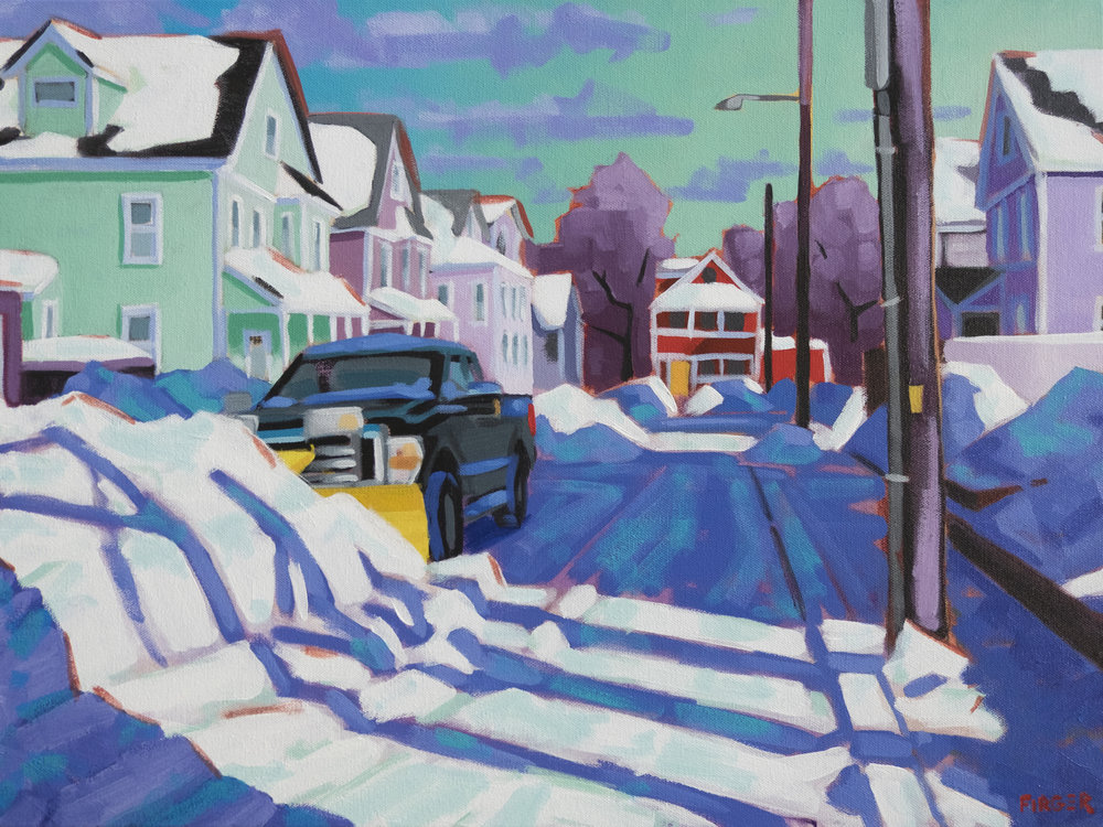 Cleanup in Cambridge - 18 x 24, Acrylic on Canvas (SOLD)